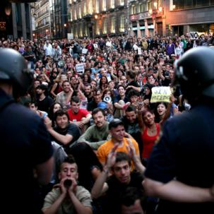 SPAIN: DEMONSTRATIONS IN MADRID CONTINUE