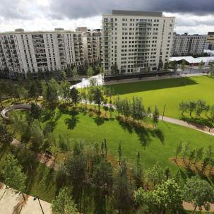 File photo of Victory Park in the Olympic Village, built for the London 2012 Olympic Games