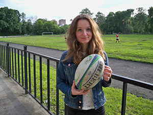 Anastassia. Les supporters de rugby russes
