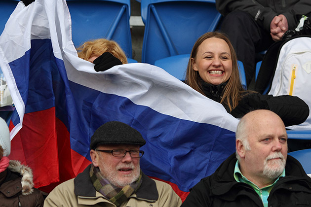 Les supporters de rugby russes