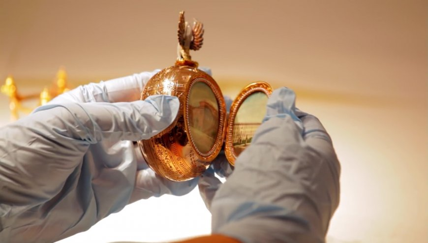 """Crédits: cadre du documentaire """"Faberge: a life of its own"""""""